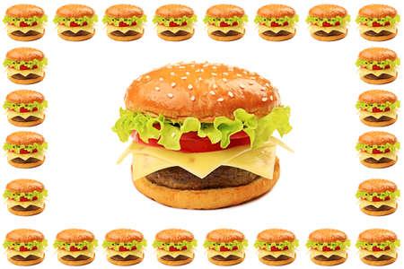 Appetizing cheeseburger. Isolated over white background. Stock Photo - 9575806