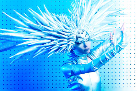 Shot of a futuristic young woman. Stock Photo - 9620550