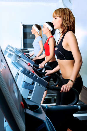 Group of young woman in the gym centre. Stock Photo - 9631133