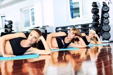 Group of young women in the gym centre. Stock Photo - 9631134