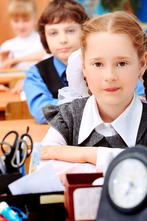 Children at school during the lesson. Stock Photo - 9773503