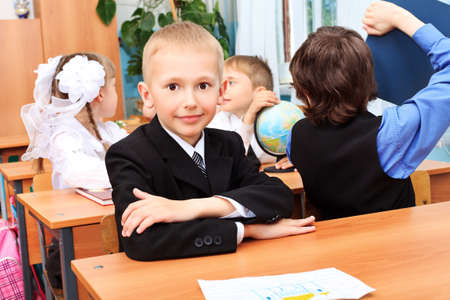 Children at school during the lesson. Stock Photo - 9773488