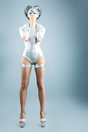 cyber girl: Shot of a futuristic young woman.