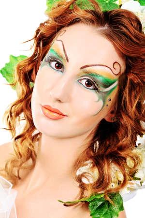 Portrait of a dreamy fairy girl. Stock Photo - 9837195