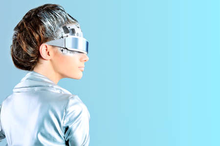 Shot of a futuristic young woman wearing glasses. Stock Photo - 9837255