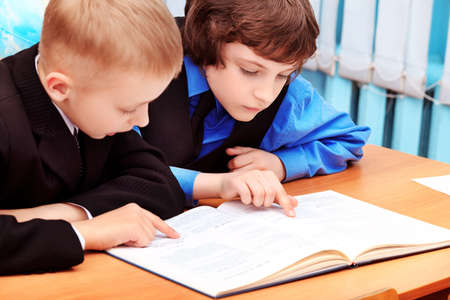 september 2: Portrait of a schoolboys in a classroom. Stock Photo
