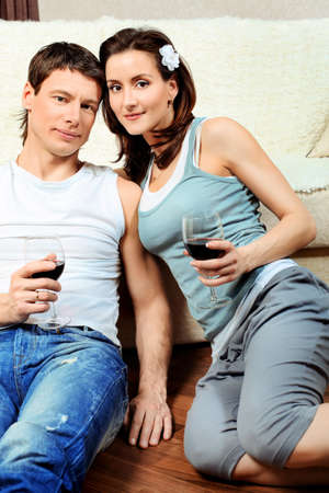 Happy married couple having a rest at home. Stock Photo - 9962119