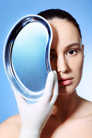 reg: Portrait of a styled professional model. Theme: beauty, spa, healthcare.