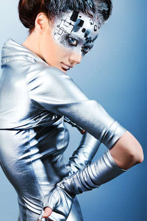 Shot of a futuristic young woman. Stock Photo - 9997461
