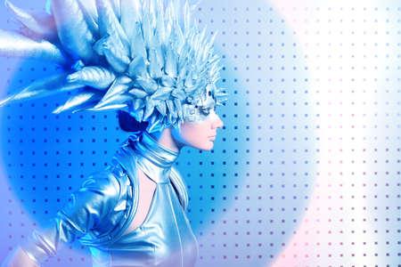 concept magical universe: Disparo de una joven futurista.