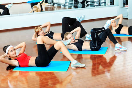 Group of young women in the gym centre.  Stock Photo - 11690985