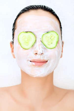 Portrait of beautiful spa girl. Beauty, healthcare. photo