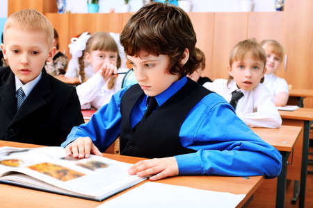 Children at school during the lesson. Stock Photo - 10250750