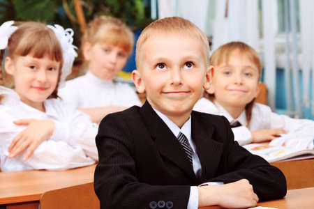Children at school during the lesson. Stock Photo - 10250736