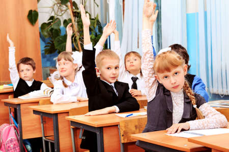 Children at school during the lesson. Stock Photo - 10250917