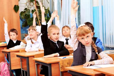 sch�ler: Kinder in der Schule w�hrend des Unterrichts.