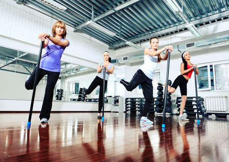 Group of young women in the gym centre. Stock Photo - 10309783