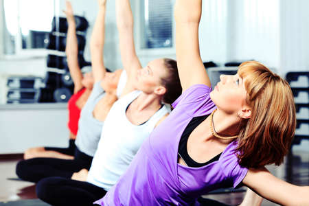Group of young women in the gym centre. Stock Photo - 10309808