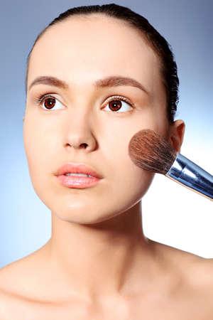 Young beautiful woman. Beauty, make-up. photo