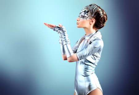 cyber woman: Shot of a futuristic young woman.