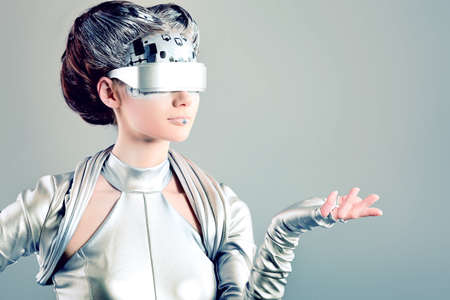 robot girl: Shot of a futuristic young woman.