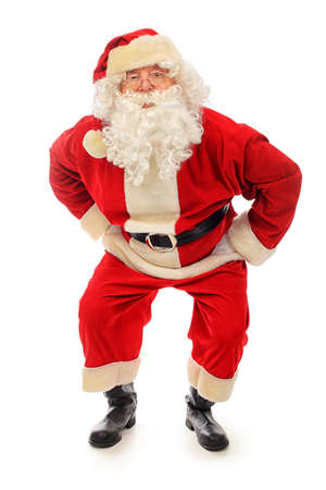 father christmas: Christmas theme: happy Santa Claus. Isolated over white background.