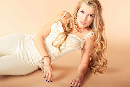 Portrait of a beautiful blonde woman. Stock Photo - 11185305