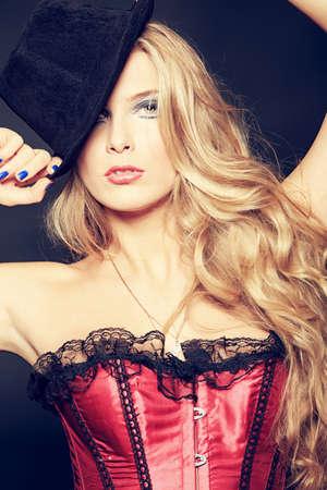 Portrait of a seductive woman.  photo