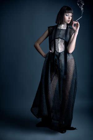 Portrait of a female model, fashion shot. photo