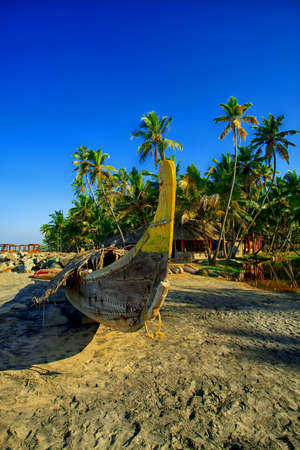Picturesque tropical beach, traditional long tail boats, Andaman Sea.  Stock Photo - 12658958