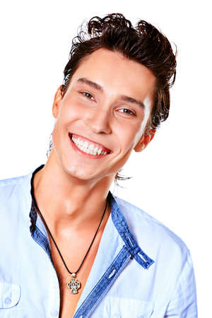 Portrait of a smiling young man. Isolated over white background. Stock Photo - 14727122