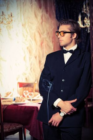 Portrait of a handsome groom on his wedding celebration  Stock Photo - 23945074
