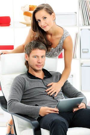 Happy married couple having good time together at home. Stock Photo - 15684263