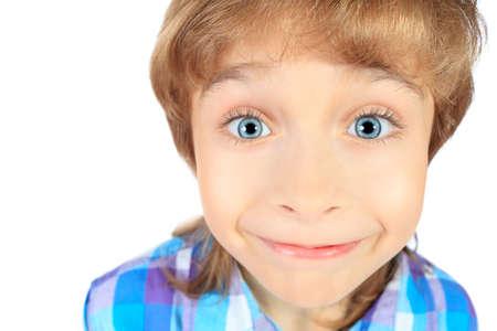 4bce30ad19b477  16447485 - Portret van een 9-jarige jongen. Geà ¯ soleerd op witte  achtergrond.