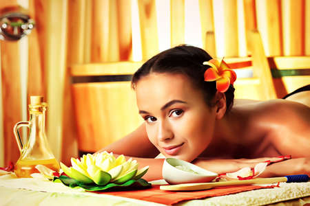 Beautiful young woman taking spa treatments at the salon. Stock Photo - 18872076