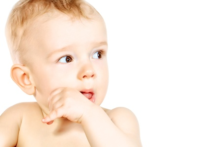 Portrait of a beautiful baby  Isolated over white Stock Photo - 20588374