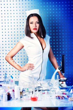 Portrait of a sexual nurse at a laboratory.