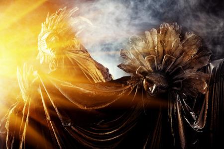 Metaphorische Idee der Sonne und des Mondes
