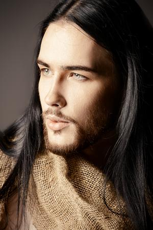 Portrait of Jesus Christ of Nazareth. 版權商用圖片