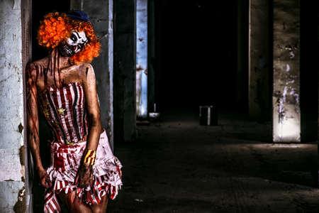 Bloody scary clown. Halloween. Horror. 写真素材