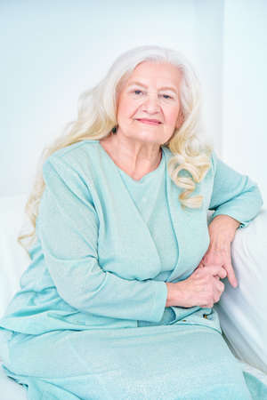 Beautiful senior woman spending time at home. Beauty, fashion. Happy retirement. Imagens - 79239409