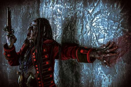 溺死した男海賊ヘルレイザー。ファンタジーと冒険。ハロウィーン。