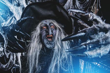 Scary wizard. Halloween. Horror film. 写真素材
