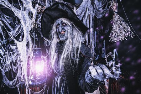 Scary wizard. Halloween. Horror film. 写真素材 - 108314585