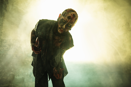 Creepy scary zombie. Halloween. Horror film. Stock Photo