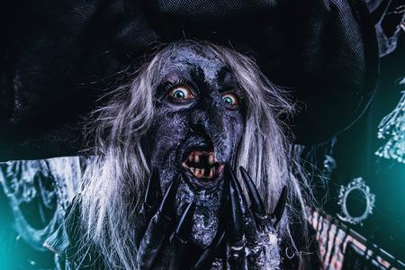 Scary wizard. Halloween. Horror film. 写真素材 - 109197761