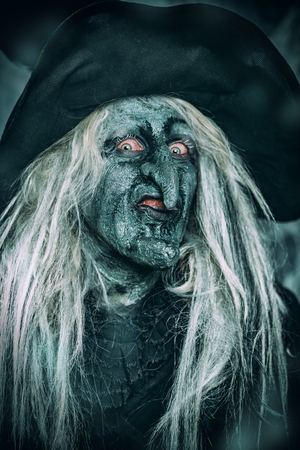 Scary wizard. Halloween. Horror film. 写真素材 - 109178542