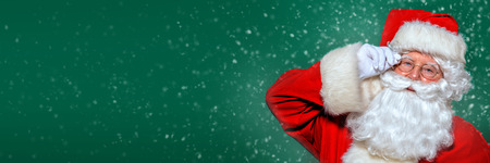 A close up portrait of Santa Claus. Merry Christmas and Happy New Year! Banque d'images