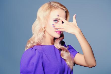 Portrait of a beautiful blonde lady. Beauty, fashion.