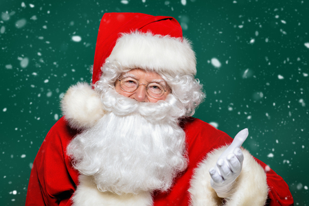 A portrait of Santa Claus. Merry Christmas and Happy New Year! Stock Photo